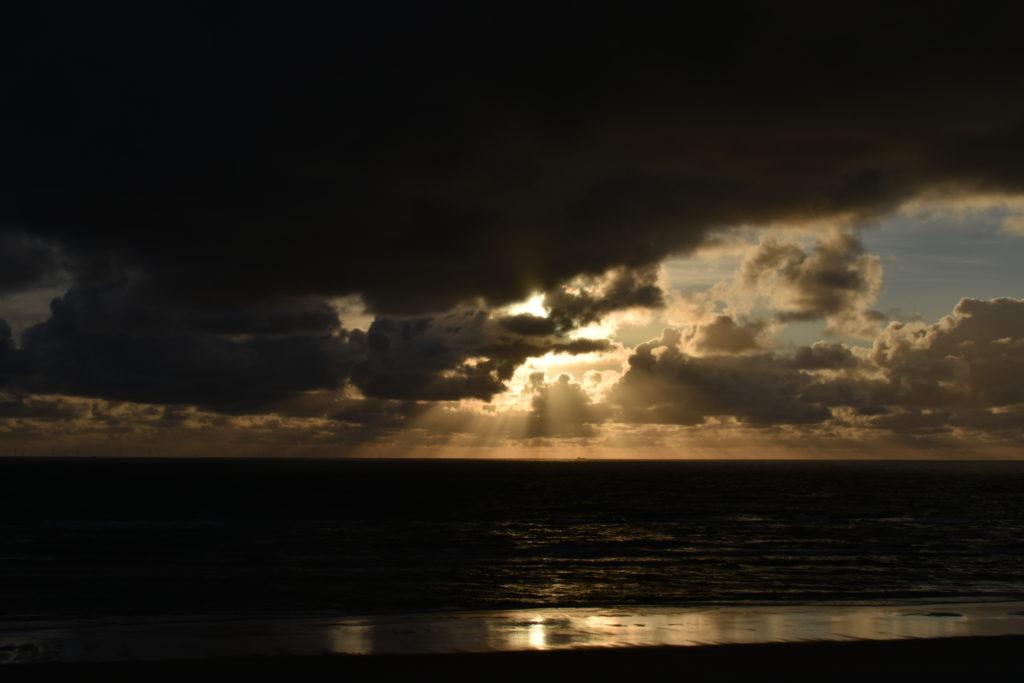 Vejers Strand Sonnenuntergang