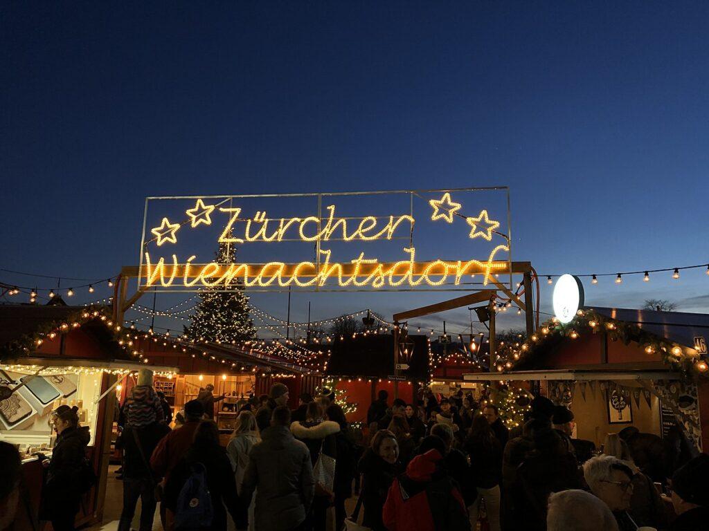 Züricher Weihnachtsdorf